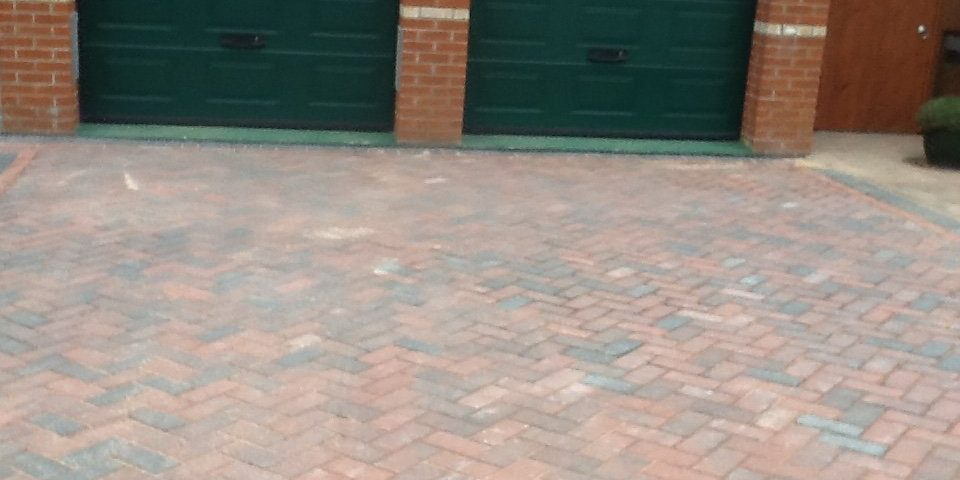 Block weave driveway in Beccles